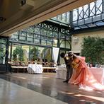 代官山 リストランテASO:ふたりのお色直しと共に、デザートビュッフェ&開放的なスペースが登場!開放感も料理も思いきり満喫できた