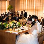 THE MARCUS SQUARE KOBE (ザ マーカススクエア 神戸):花嫁の夢を叶えた心温まる入場演出。キャンドルに未来へのメッセージを込めたロマンチックなひと時