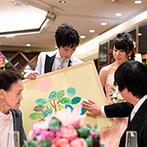 THE MARCUS SQUARE KOBE (ザ マーカススクエア 神戸):テーマは「みんなと想い出をつくる一日」。テーブルラウンドで式後も残る記念品を完成させ、宝物になった