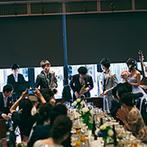 Neo Japanesque Wedding 百花籠(ひゃっかろう):パーティのテーマは出会いのきっかけであるJAZZ!心地よい音楽が美味しい料理&幸せムードを引き立てた