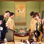 日本料理 つば甚:伝統的な金沢の郷土料理で、贅を尽くしたおもてなし。「鯛の唐蒸し」は、県外から訪れたゲストに喜ばれた