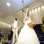 アルマリアン 福岡(ALMALIEN FUKUOKA):クリスタルがキラキラ輝くナイトセレモニー!人前式スタイルでふたりらしく誓い、ゲストへプチギフトも
