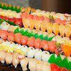 辻家庭園 ~前田家家老旧横山家迎賓館~(金沢市指定文化財):和の本格懐石料理と『寿司ビュッフェ』で、贅沢なおもてなし!美味しい記憶をゲストとわかちあう披露宴に