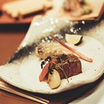 辻家庭園 ~前田家家老旧横山家迎賓館~(金沢市指定文化財):「金沢の醍醐味を味わってほしい」というおもてなしの想いが届いた宴。友人たちからの祝福の演奏にも感激