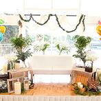 ホテルフラッグス 九十九島:ゲストハウスを1棟まるごと貸切にしてふたり色に!手作りなど、こだわり尽くしたナチュラルウエディング