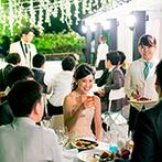 ブランシュメゾン:ふたりの幸せを願って乾杯!テラスでバーベキューやクラフトビールを味わいながら、思い出話に花を咲かせた