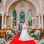 ブランシュメゾン:大切な人々に囲まれて幸せなひと時を。誓いを心に刻める本格的な教会とプライベート感のある会場が決め手