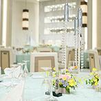ノートルダム八戸 Notre Dame HACHINOHE:「海」をテーマに爽やかな空間にアレンジ。絶品料理と上質なサービスで、ゲストに至福のひと時をプレゼント