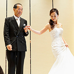 ノートルダム八戸 Notre Dame HACHINOHE:新婦と父のラストダンスに会場中に温かな笑顔が広がった。エンターテイメント性あふれるパーティが大好評!