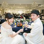 エミリア(Wedding Court EMILIA):フレンチに和の要素を加えたコース料理は、世代を越えた美味しさ。年配ゲストや妊婦ゲストへの配慮も細やか