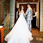 アカガネリゾート京都東山 (AKAGANE RESORT KYOTO HIGASHIYAMA):スタッフの行き届いた対応がゲストにも好評。料理や演出などオリジナリティあふれる結婚式が実現した