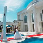 ア・ヴェール・ブランシェ:青空に映える白亜の貸切ゲストハウス。ふたりに寄り添ってサポートしてくれる温かいスタッフの対応が魅力