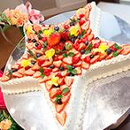 BELLE VIE(ベルヴィ):大好きな星を会場中にちりばめてロマンチックに。オープンキッチンからサーブされる出来たての美食も好評