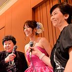 KOTOWA 京都 八坂(コトワ 京都 八坂):パーティの後半はカラオケ大会でワイワイ楽しく!当日のシーンをいれた退場用ムービーで感動的なムードに