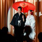KOTOWA 鎌倉 鶴ヶ岡会館:プロジェクションマッピングを駆使した登場演出でスタートからわくわく!ゲストを楽しませるアイデアが満載