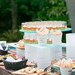 LAZOR GARDEN OSAKA(ラソール ガーデン 大阪):テーマは「春風と音楽」。緑あふれるガーデンパーティで、美食と音楽を楽しむひと時をゲストにプレゼント