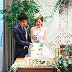 LAZOR GARDEN OSAKA(ラソール ガーデン 大阪):会場のレリーフやグリーン、白い帽子の雰囲気も自然にマッチ。可愛いバレリーナによる祝福の踊りにも感激