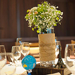 EXEX SUITES (エグゼクス・スウィーツ):テーマの「旅行」にふさわしい、異国のレストランを意識した会場。料理やケーキにもとことんこだわった