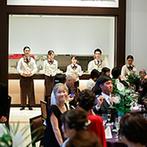 アルカンシエル luxe mariage大阪:プランナーをはじめ、衣裳や装花、音楽など、各分野のプロが丁寧に対応。大勢のスタッフが全面バックアップ