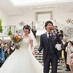 アルカンシエル luxe mariage大阪:遠方に住むふたりのために、5回の打合せで希望を形に。衣裳選びに悩んでいた新婦へのサポートも嬉しかった