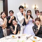 アルカンシエル luxe mariage大阪:スタッフとコミュニケーションを積極的に取ろう。各卓フォトにポーズカードをプラスするのがおすすめ!