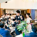 ザ ガーデンオリエンタル大阪:緑を眺めながらゆったりと寛ぐ大人のウエディング。オープンキッチンから運ばれる出来たての美食に舌鼓