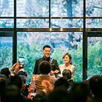 ザ ガーデンオリエンタル大阪:緑と自然光があふれるガーデンから再入場!ゲストとの交流を深め、フィナーレの映像も感動的に
