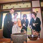 THE KIKUSUIRO NARA PARK (菊水楼):ゲストとの歓談をメインに進んだ披露宴。家族に感謝の気持ちを伝える演出で、さらに温かなムードに
