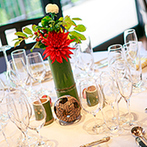 THE KIKUSUIRO NARA PARK (菊水楼):ふたりらしい結婚式をとことん支えてくれたスタッフに感謝。プロポーズ記念日を彷彿とさせた竹のアレンジ