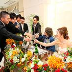 セントミッシェル ガーデンウェディング:挙式は憧れのハワイで!大切な恩師や友人にお互いを紹介できる、カジュアルな披露パーティをイメージ