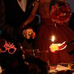 室町ステージ Muromachi Stage THE SCREEN:幸せの灯とメッセージが浮かぶキャンドルリレー。ロビーにたくさん飾っていたバルーンは、雨上がりの大空へ