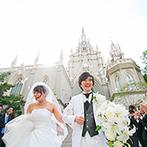 アートグレース ウエディング スクエア:名古屋のランドマークともいえる優美な大聖堂に一目ぼれ。遠方ゲストも安心の駅近くの立地もポイントに