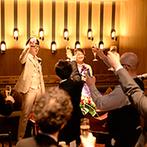 ウェディングレストラン ALAISE:ゲストの近くで幸せな時間を過ごせるパーティ会場が決め手。フレンドリーなスタッフの人柄も魅力的