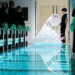 ANELLI 長岡(アネーリ 長岡):空と緑に囲まれた白亜の邸宅で、理想のウエディング。ダイヤモンドのように輝くガラスのバージンロードに涙