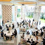 ANELLI 長岡(アネーリ 長岡):宮殿のように天井が高く、開放感に満ちた貸切邸宅を、ナチュラル系の音楽フェスをテーマにコーディネート