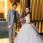 ストリングスホテル東京インターコンチネンタル:肉料理好きのふたりらしく贅沢におもてなし。お色直しはカラードレスの色当てクイズで盛り上がった