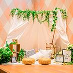 Miel Citron(ミエルシトロン):居心地の良い貸切邸宅をイメージ通りに飾り付け。ナチュラルな花々やスタイリッシュな枝葉が勢揃い