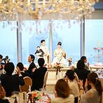 The 33 Sense of Wedding(ザ・サーティスリー センス・オブ・ウエディング):空に手が届きそうな地上160mのビルイン型ゲストハウス。ふたりの想いを受け止めてくれたスタッフが決め手