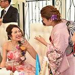 AFFRANCHIR QUEEN'S COURT(アーフランシェル・クィーンズコート):色鮮やかな装花やデザイン性のある料理も、幸せを彩るパーティ。多彩な衣裳チェンジにゲストから歓声が