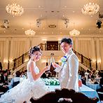 LA POLTO(ラ ポルト):「ふたりならではの結婚式が叶う」と確信。設備が整った貸切の披露宴会場に惹かれ、すぐに心を決めた