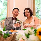 ラ・ブランシュ富山:初夏に似合う、装飾やオリジナルケーキ。シェフの想いが詰まった美食は、ゲストの心に残る幸せの味