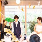 NAKANOSHIMA TERRACE # AND ME(中之島テラス # AND ME):新婦の代わりに母が新郎をこらしめる?!雪かきスコップラストバイトなど、ゲストの笑いを誘うシーンが満載