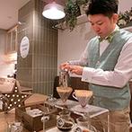 チャペル ド コフレ 札幌:コーヒードリップの演出でよりアットホームな雰囲気に。スタッフの計らいで、思い出がさらに増えた