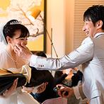 THE LANDMARK SQUARE OSAKA(ザ ランドマークスクエア オオサカ):身内による楽しい余興の後は、新郎からのプロポーズのサプライズ。家族になる幸せをあらためてかみしめた