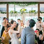 the Terrace(ザ テラス):憧れ以上の結婚式を実現に導いてくれたプランナー&スタッフたち。素敵なアイデアのおかげで願いが形に