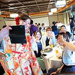 平安神宮会館(国指定名勝神苑):京都の繊細な技が生きた婚礼料理、ゲストとのふれ合いも嬉しい披露宴。新郎からのサプライズも心に響いた