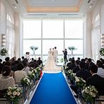 セントレジェンダ OKINAWA(CENTLEGENDA OKINAWA):那覇空港から車で35分のリゾート空間。紺碧の海とのコントラストが美しい白亜のチャペルに心を奪われた