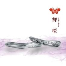 JEWELRYサカグチ天神本店_【杢目金】舞桜/職人がつくる鍛造リング