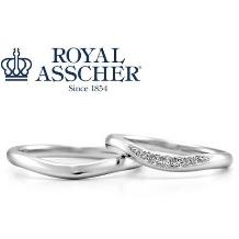 サトウ_【ロイヤルアッシャー】緩やかなラインと上品なメレダイヤで華奢な手元に。
