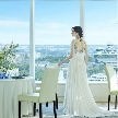 ANAクラウンプラザホテル熊本ニュースカイ:【平日限定特典付き】ワンフロア貸切♪×花嫁の憧れドレス×絶景